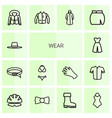 wear icons vector image vector image