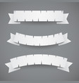white paper cut ribbons or flags vector image vector image