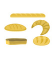 bakery products in flat style vector image