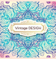 delicate wedding invitations in ethnic indian vector image