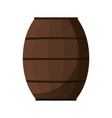 wooden barrel icon vector image