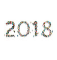 2018 formed out from people top view vector image