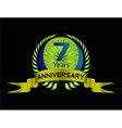 7 years Celebration Anniversary label vector image vector image