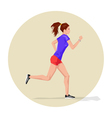 Active sporty young running woman athlete with vector image vector image
