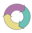 arrow circle with pattern vector image vector image