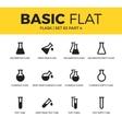 basic set flask icons vector image