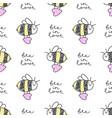 bee in love pattern vector image vector image