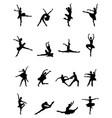 black silhouettes of ballerinas vector image
