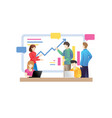 business people talking conference meeting room vector image