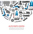 car spares and auto parts service vector image vector image