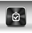 checkmark icon test form mark tick check choice vector image