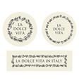 concept hand drawn italian food elements vector image vector image