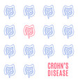 crohns disease linear pattern medical poster vector image