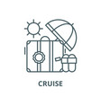 cruise line icon linear concept outline vector image