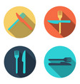 Cutlery icon vector image