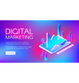 digital marketing isometric vector image vector image