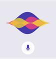 digital voice assistant flat design modern concept vector image vector image