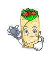 doctor burrito character cartoon style vector image