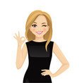 elegant business woman showing vector image vector image