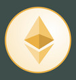 ethereum icon for internet money vector image