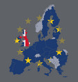 eu map with great britain vector image