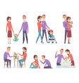 family couples love mother and father playing vector image vector image