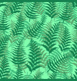 fern seamless pattern exotic background nature vector image