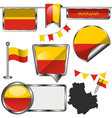 flags warsaw poland vector image vector image