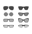 glasses icons set vector image vector image