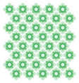 green geometric ornament seamless pattern vector image vector image