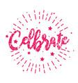happy birthday celebrate - vintage typography vector image
