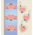 Heart Labels Collection vector image vector image