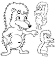 Hedgehog set vector image vector image