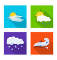 isolated object of weather and climate logo vector image