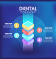isometric infographics design 4 options leves vector image vector image