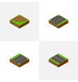 isometric road set of upwards turn down and vector image vector image
