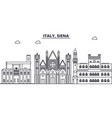 italy siena line skyline vector image vector image