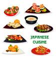 japanese restaurant dinner icon of asian cuisine vector image vector image