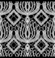 lace ornamental black and white ethnic seamless vector image