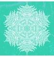 Mandala design in white on aqua green vector image vector image