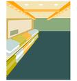 Modern design interior shop vector image