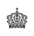 monarchy symbol isolated royal crown vector image