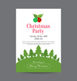 neat christmas invitation poster with christmas vector image