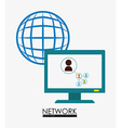 Network design vector image vector image