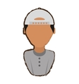 people young man with hat icon image vector image vector image