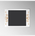 photo frame with a pattern of gold foil vector image vector image