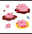 pig set vector image