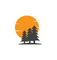 pine tree icon design template isolated vector image vector image