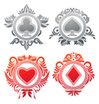 Playing Card Circle Ornament vector image