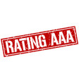 Rating aaa square grunge stamp vector image